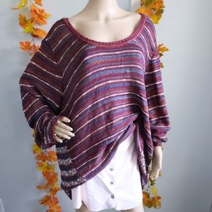 NWOT MAURICES SWEATER PLUS SIZE STRIPED